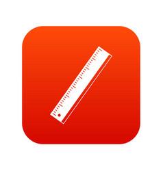 yardstick icon digital red vector image