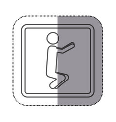 figure person doing squats icon vector image