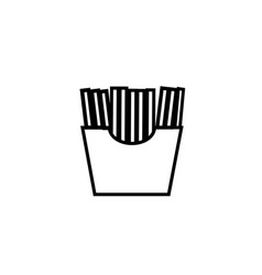 french fries icon vector image