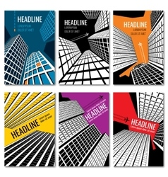 Skyscrapers and urban landscape design Business vector image vector image