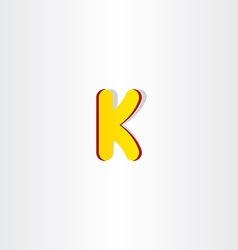 yellow letter k logo symbol vector image
