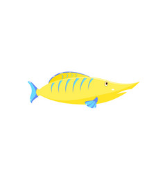 children drawing of a fish vector image