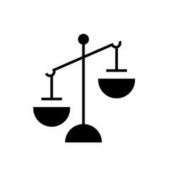 justice simple icon black vector image vector image