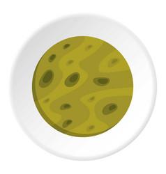 moon icon circle vector image
