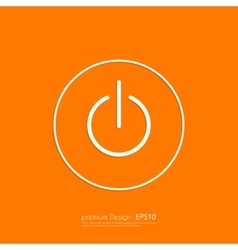Stock Linear icon power vector image
