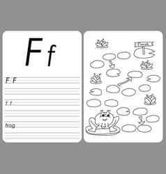 cartoon frog game coloring book pages vector image