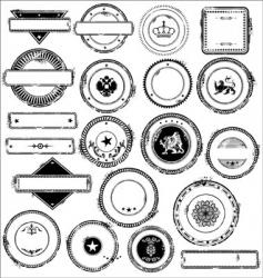 Empty grunge rebber stamps - set vector