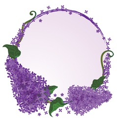 frame with flowers of the lilac vector image