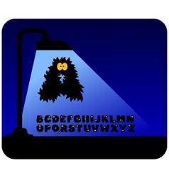 monster alphabet vector image