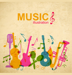 music abstract template vector image vector image