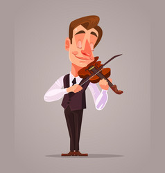 violinist man character playing music vector image vector image