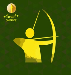 Brazil summer sport card with an yellow abstract a vector image vector image