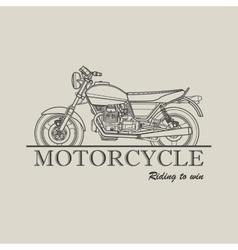 Motorcycle poster logo retro vector image