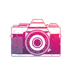 retro camera old analog slr over white vector image