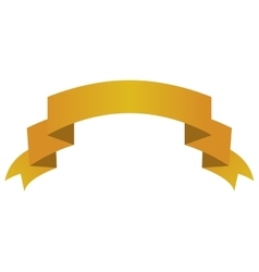 ribbon banner yellow design icon vector image