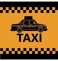 taxi car side view banner design vector image