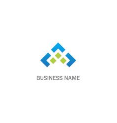 Abstract square shape company logo vector