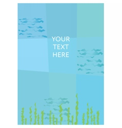 Abstract undersea background Place for your text vector