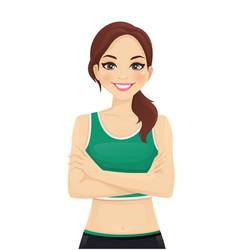 beautiful sport woman portrait vector image