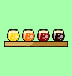 Beer Flight Tasting Tray vector image