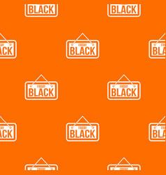 Black friday signboard pattern seamless vector
