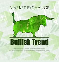 bullish market trend vector image