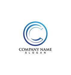C logo and symbols template vector