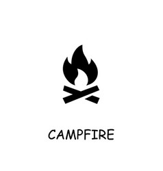 Campfire flat icon vector