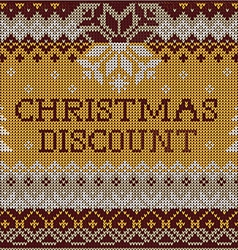 Christmas Discount Scandinavian style seamless vector image