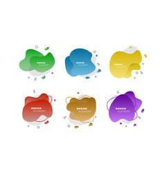 colored fluid elements for minimal banner logo vector image
