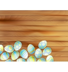 colorful easter eggs background eps 10 vector image