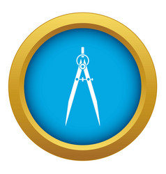 Compass for drawing and delineation icon blue vector