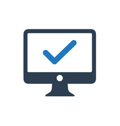Computer access icon vector
