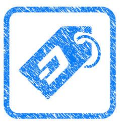 dash token framed stamp vector image