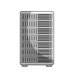 Data center server isolated icon vector