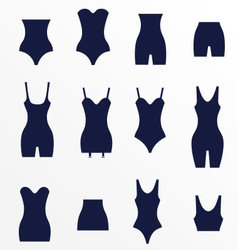 Different types of waist corrective underw vector image