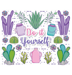 do it youself cartoons concept vector image