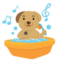 DogBath vector image