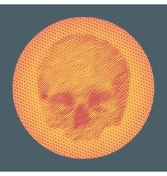 Dotwork styled skull vector