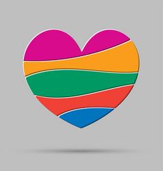 element heart love symbol of romance vector image