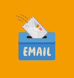 Email message symbol mail envelope drops in the vector