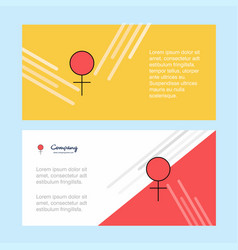 female abstract corporate business banner vector image