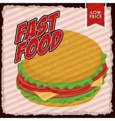 Hamburger icon Fast food design graphic vector