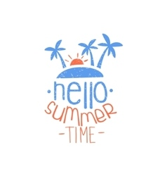Hello Summer Time Colorful Ad vector