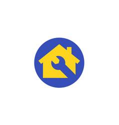 home maintenance service logo vector image