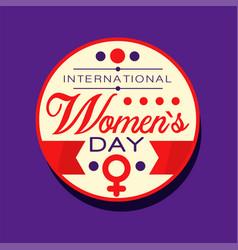 international women s day sticker or label 8 vector image