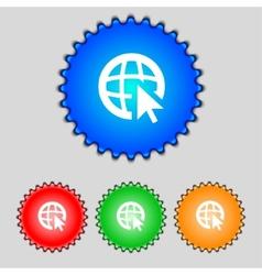 Internet sign icon World wide web symbol Cursor vector image