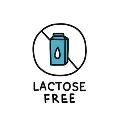Lactose free symbol doodle icon vector