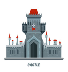 medieval castle fortress or stone citadel palace vector image