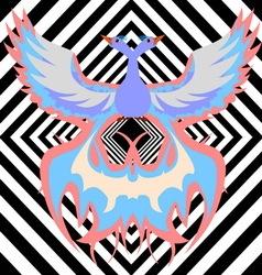 Multicolor phoenix vector